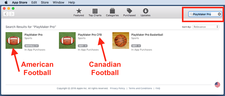 PlayMaker Pro Personal Football Playbook Software for Macintosh